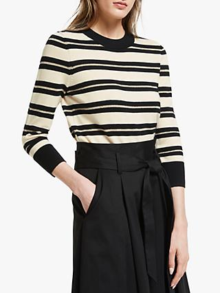 Somerset by Alice Temperley Lurex Stripe Jumper, Neutral