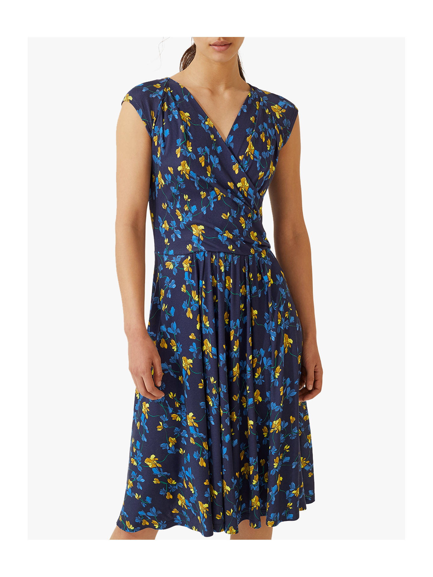Jigsaw Cyclamen Flare Dress Navy At John Lewis Amp Partners