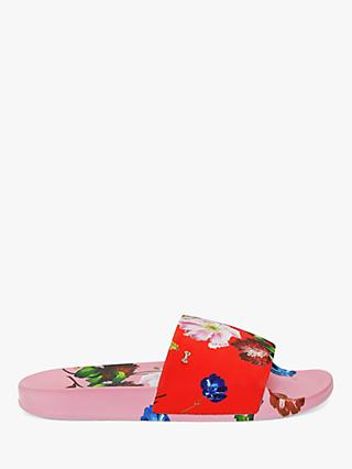Ted Baker Avelini Floral Print Slider Sandals, Red