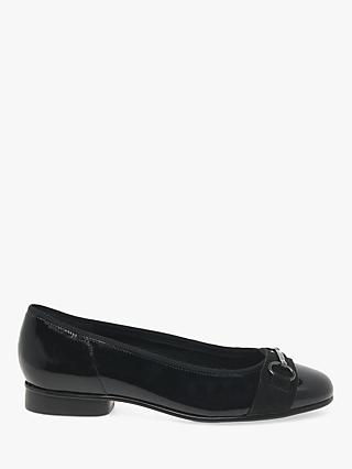 Gabor Ample Leather Ballet Pumps