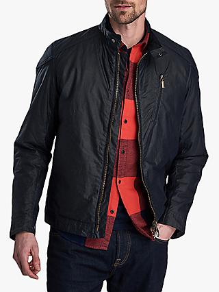 Barbour International Cafe Racer Wax Jacket, Royal Navy