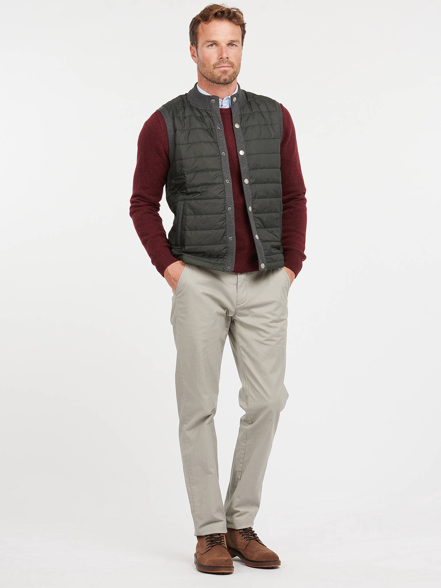 Buy Barbour Essential Gilet, Charcoal, XL Online at johnlewis.com