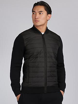 Barbour International Baffle Zip Top, Black