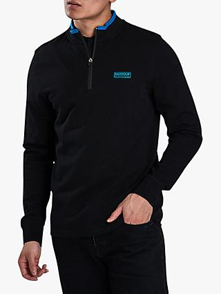 Barbour International Bleaser Half Zip Sweatshirt, Black