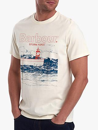 Barbour Fareland T-Shirt, Off White