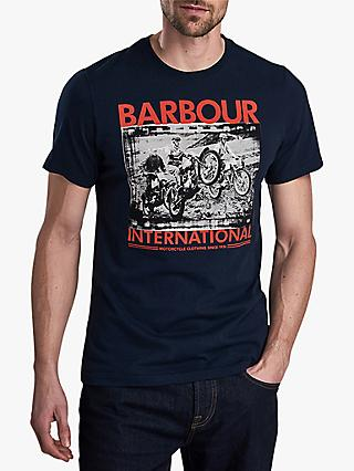 Barbour International Short Sleeve Archive Print T-Shirt, Navy