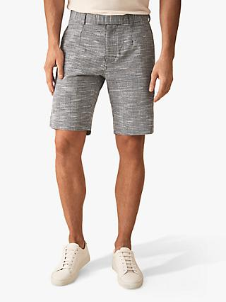 Reiss Ment Check Tailored Shorts, Soft Blue
