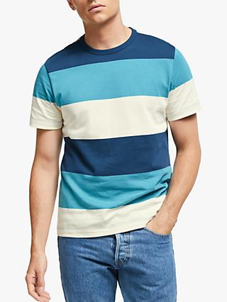 John Lewis & Partners Wide Block Stripe T-Shirt