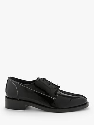 Kin Fabia Leather Patent Brogues, Black