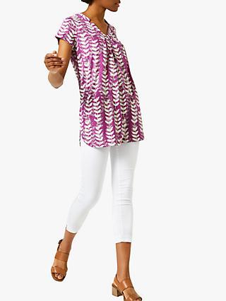 08eaacacb1e White Stuff Rice Flower Print Tunic, Plum Purple Print