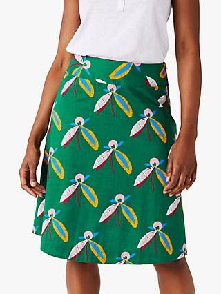 White Stuff Blossom Seed Reversible Skirt, Green