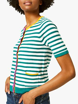 White Stuff Stripe Beach Button Cardigan, Multi