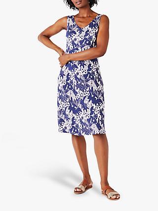 cdad716e79783 White Stuff Trudy Floral Print Dress, Navy
