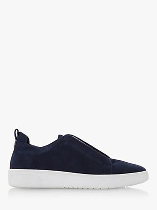 Dune Elliin Leather Slip On Trainers