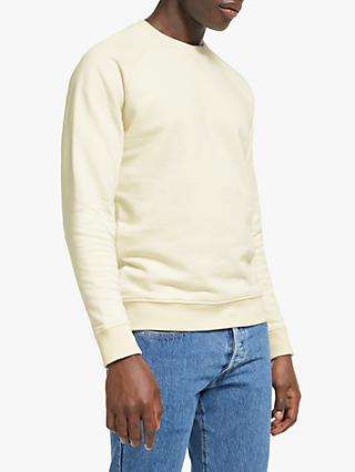 John Lewis & Partners Hursley Cotton Sweatshirt, Ecru