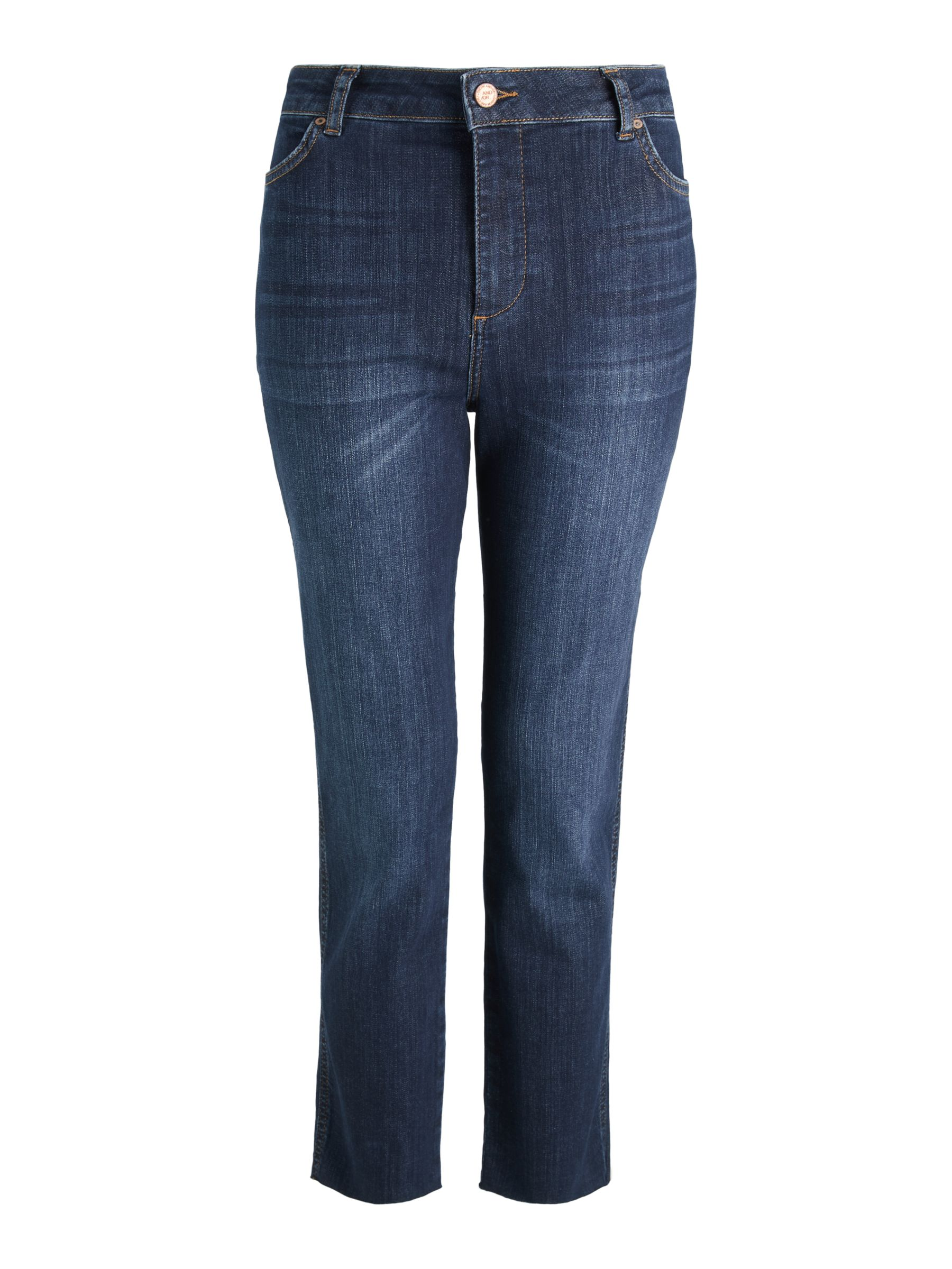 Buy AND/OR Sierra High Rise Straight Jeans, Azurite, 26 Online at johnlewis.com