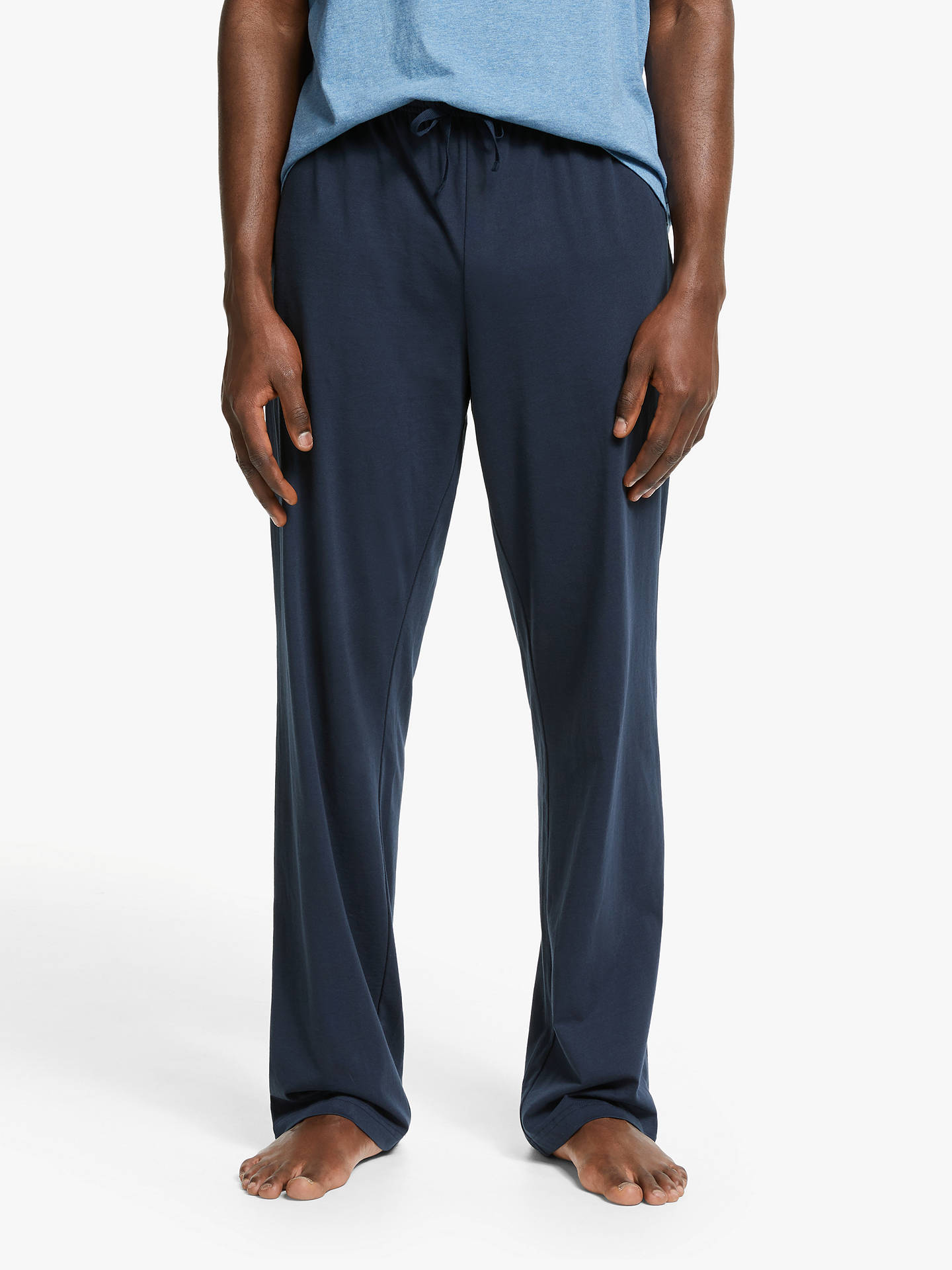 original top style reliable quality John Lewis & Partners Jersey Organic Cotton Lounge Pants, Navy