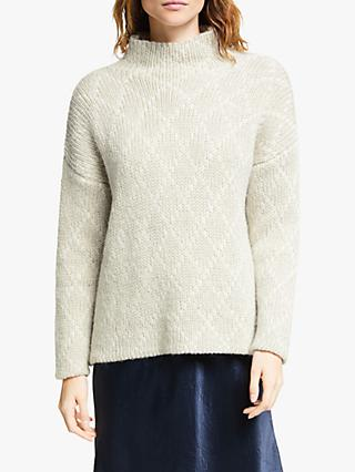 Modern Rarity Diamond Sparkle Pattern Jumper, Natural