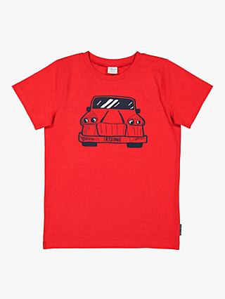 Polarn O. Pyret Children's Graphic Car T-Shirt, Red
