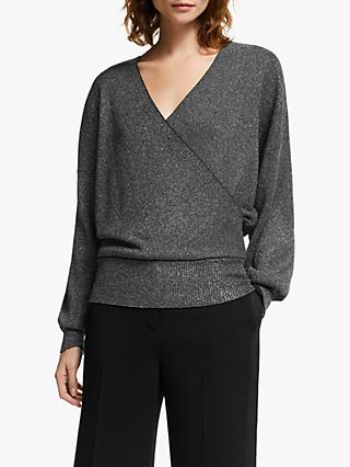 Modern Rarity Sparkle Wrap Jumper, Grey