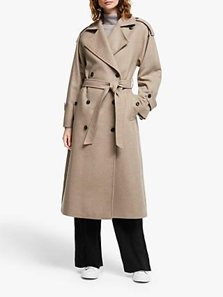 Modern Rarity Belted Trench Coat, Neutral
