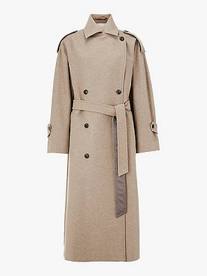Buy Modern Rarity Belted Trench Coat, Neutral, 8 Online at johnlewis.com