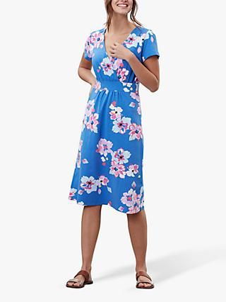 Joules Jude Wrap Dress, Blue/Multi
