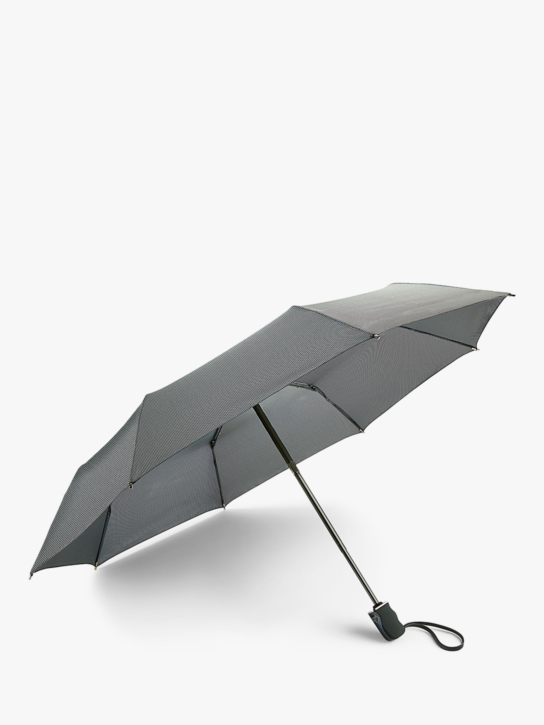 Fulton Fulton Houndstooth Telescopic Umbrella, Grey
