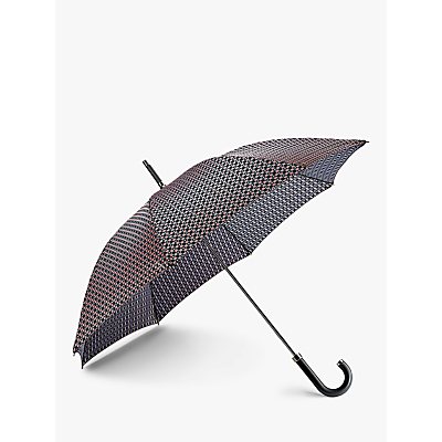 Image of Fulton Foulard Print Walking Umbrella, Black/Pink