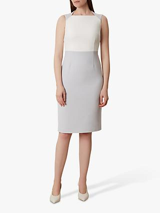 Hobbs Tamara Dress, Silver Grey/Ivory