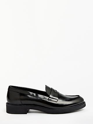 John Lewis & Partners Georgia Leather Penny Loafers