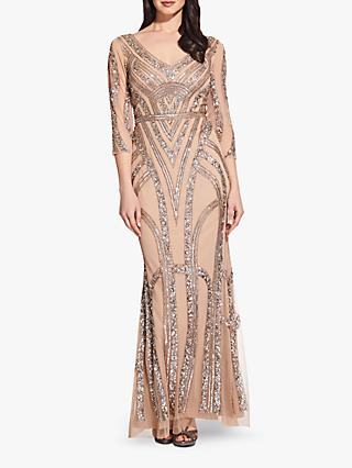 9fcec9809ba Adrianna Papell Beaded Maxi Dress