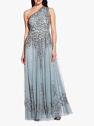 Adrianna Papell One Shoulder Embellished Gown