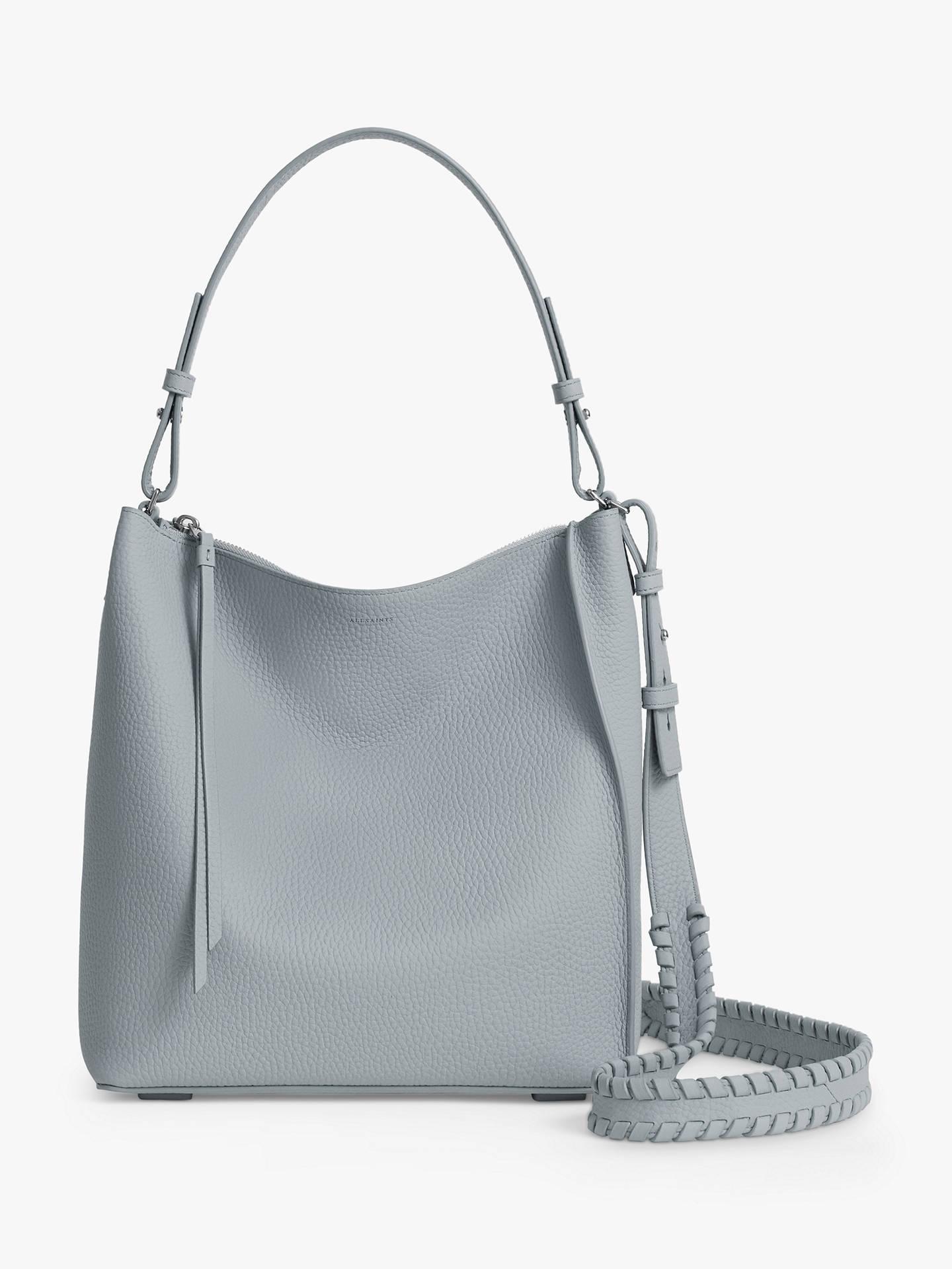 8cb3abc24e78f9 Buy AllSaints Kita Leather Cross Body Bag, Denim Blue Online at  johnlewis.com ...