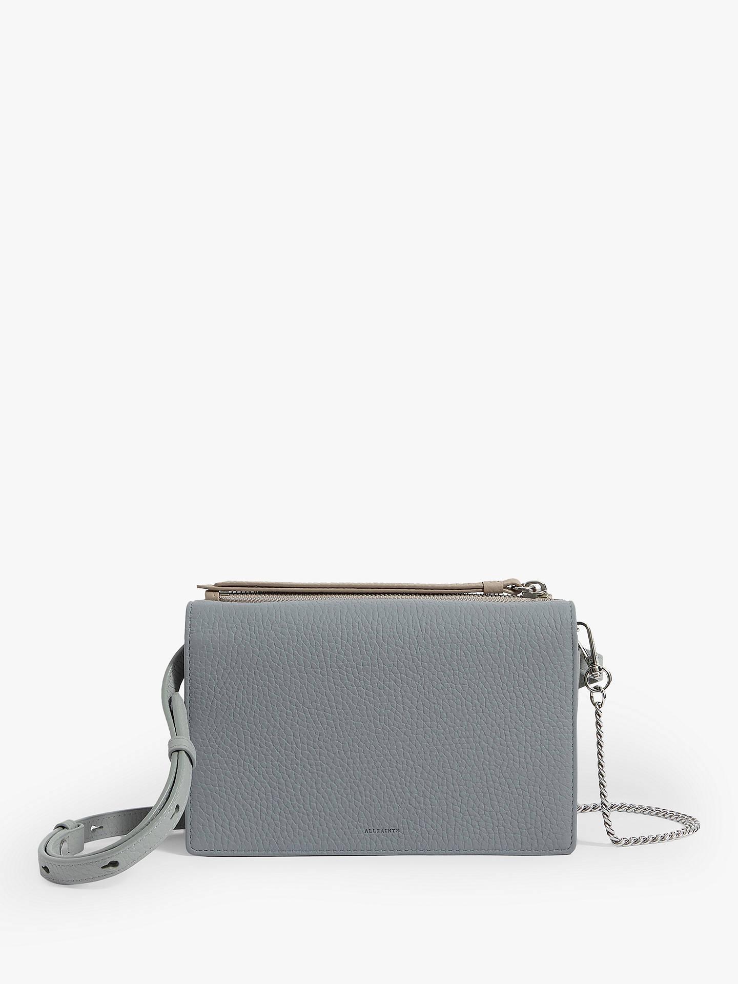 82cd00d7cc6f AllSaints Fetch Chain Wallet Cross Body Bag, Multi Sky Blue