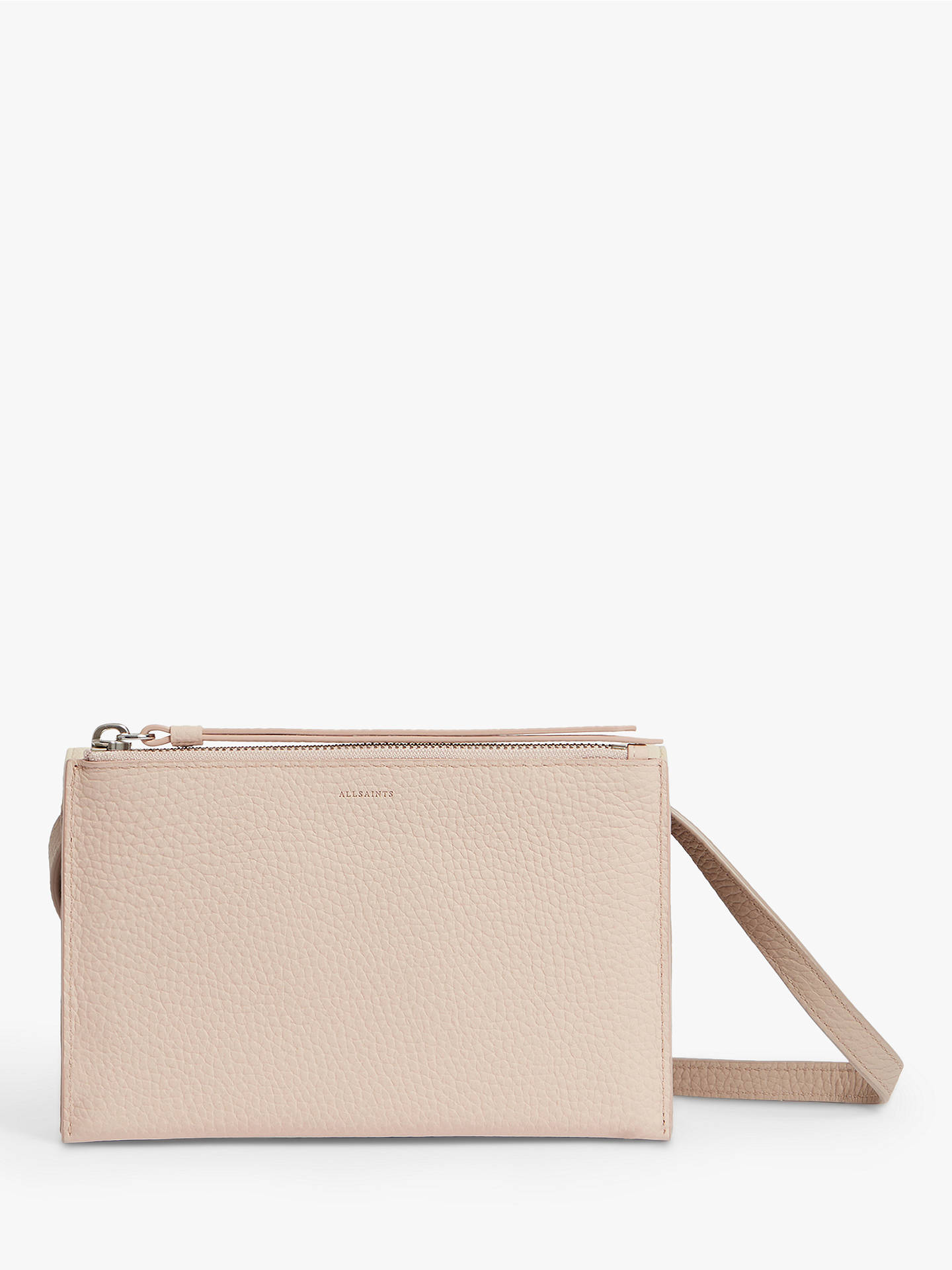 95a357a5e ... Buy AllSaints Fetch Chain Wallet Cross Body Bag, Sand Beige Online at  johnlewis.com ...