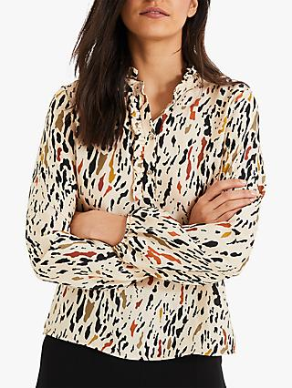Damsel in a Dress Aimee Animal Print Blouse, Neutral