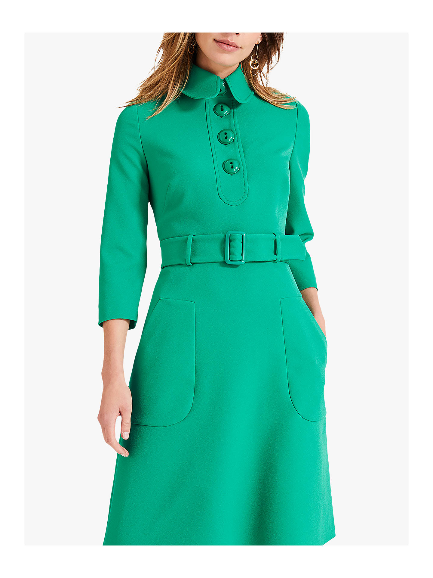 Buy Damsel in a Dress Adie Button Dress, Green, 18 Online at johnlewis.com