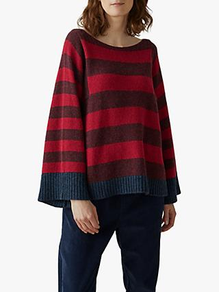 Toast Stripe Wide Sleeve Sweater
