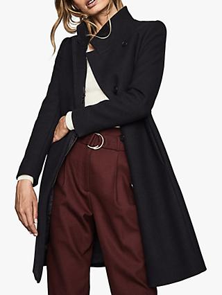 Reiss Maya Slim Fit Wool Blend Coat