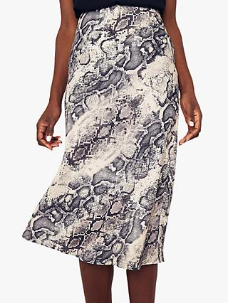 Oasis Snake Bias Cut Skirt, Multi