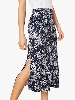 689846d5ca Oasis Bird Print Skirt