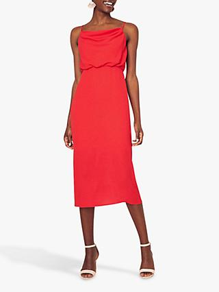 Oasis Cowl Neck Dress, Rich Red
