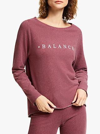 M Life Nirvana Slogan Yoga Sweat Top, Purple