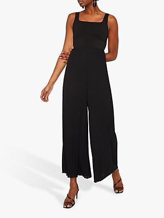 Warehouse Pleated Leg Jumpsuit, Black