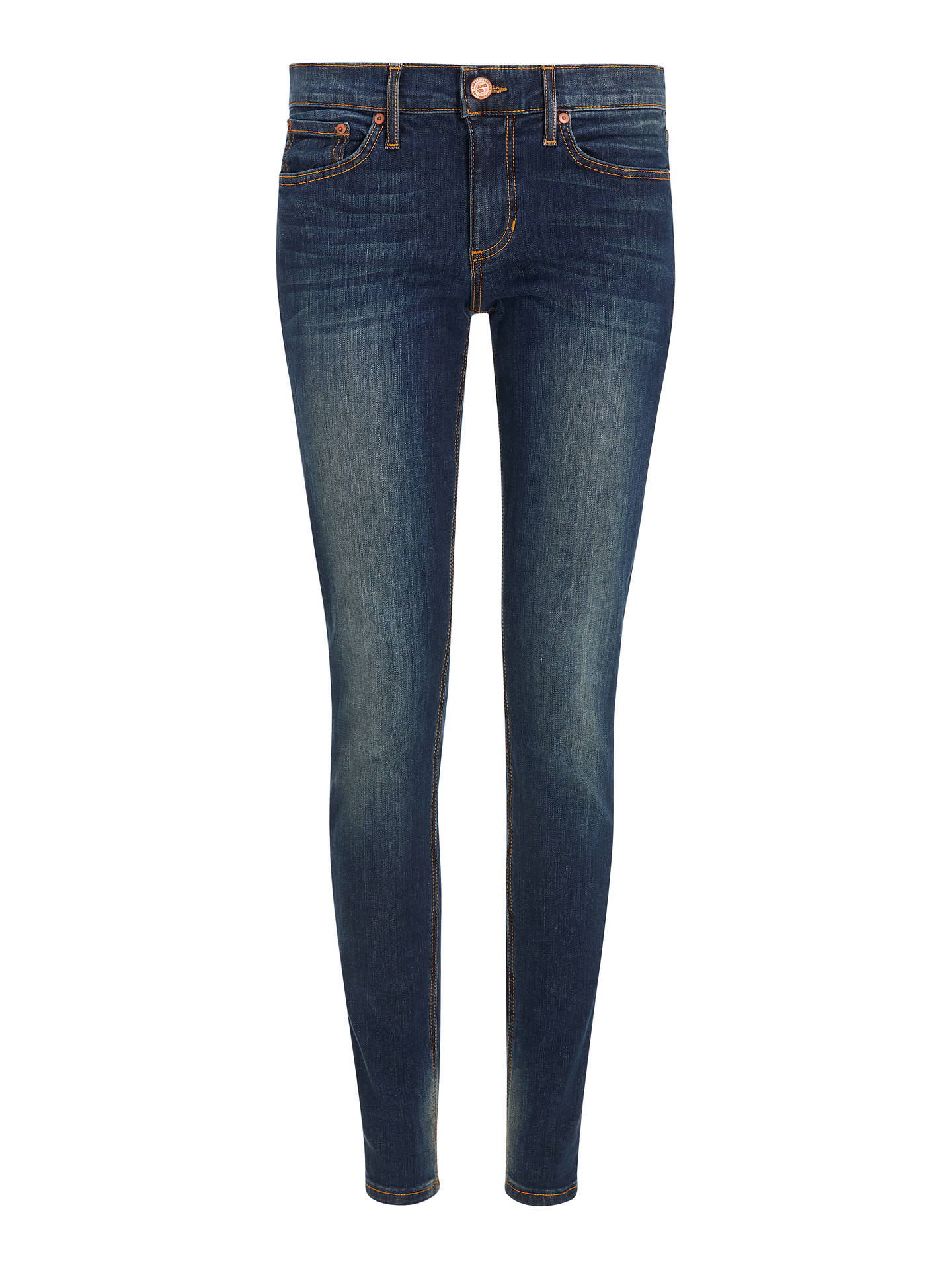 Buy AND/OR Abbot Kinney Skinny Jeans, Deja Blue, 26R Online at johnlewis.com