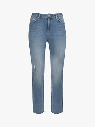 Mint Velvet Houston Distressed Jeans, Blue