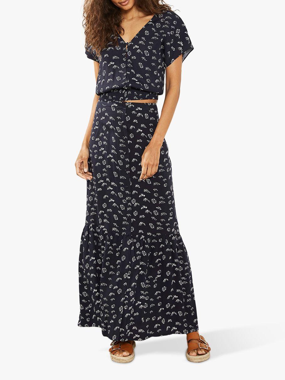 06b319b60a29 Mint Velvet Lara Print Boho Maxi Skirt