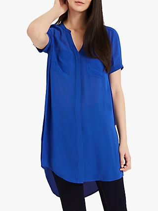 Phase Eight Charlotte Chiffon Shirt, Cobalt