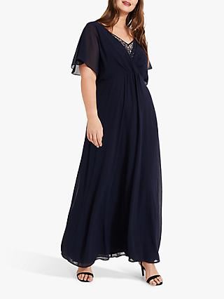 Studio 8 Albertina Embellished Maxi Dress, Navy